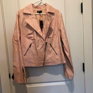 Torrid PU Moto Jacket Pale Blush NWT Size 2